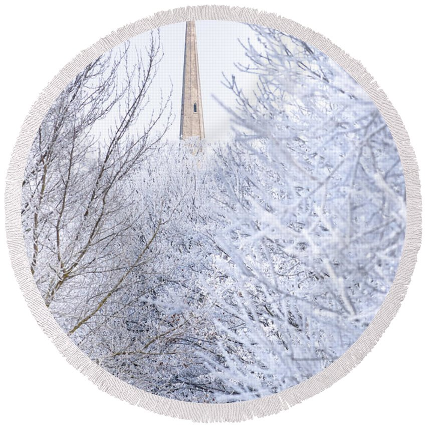 Andrew's Round Beach Towel featuring the photograph Frosty Morning by Andrew Michael