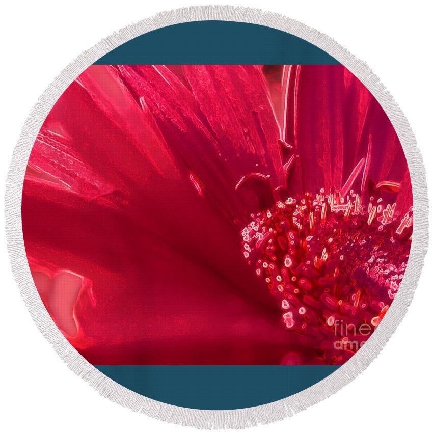 Flower Round Beach Towel featuring the photograph Fuchsia Flower by Eve Penman