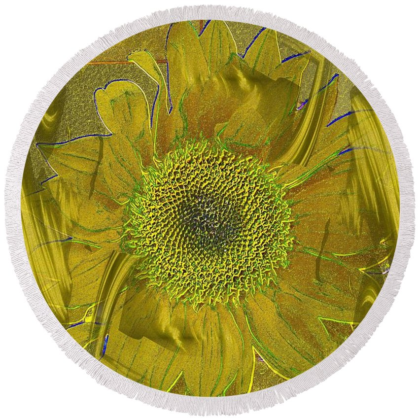 Flower Round Beach Towel featuring the photograph Fulfillment by Tim Allen