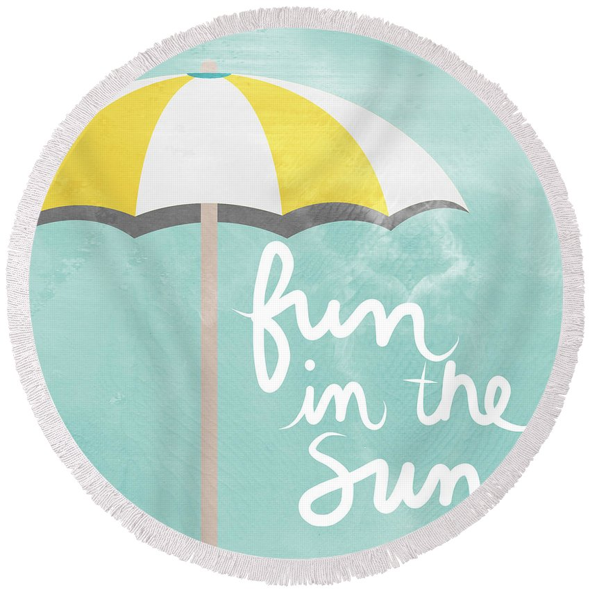 Umbrella Round Beach Towels