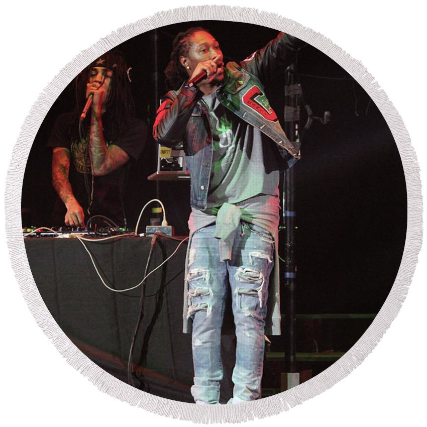 Hip Hop Artist Round Beach Towel featuring the photograph Future by Concert Photos