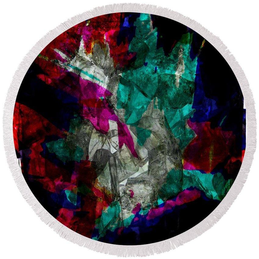 Gem Round Beach Towel featuring the digital art Gem Stones by Melissa Nay