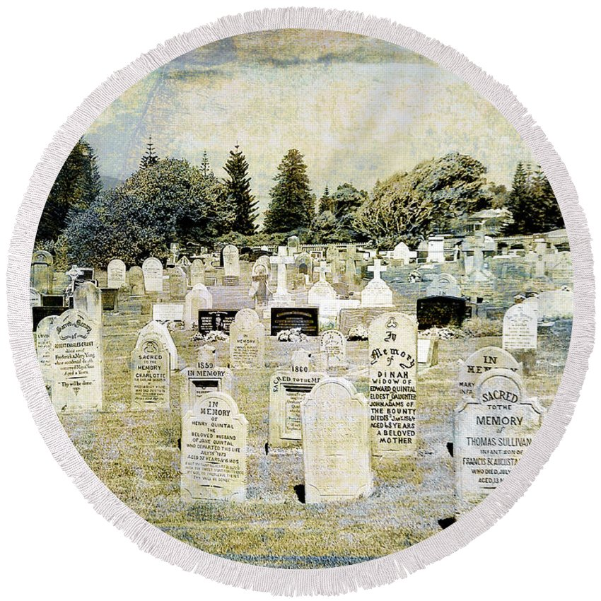Graveyard Round Beach Towel featuring the photograph Generations by Dominic Piperata