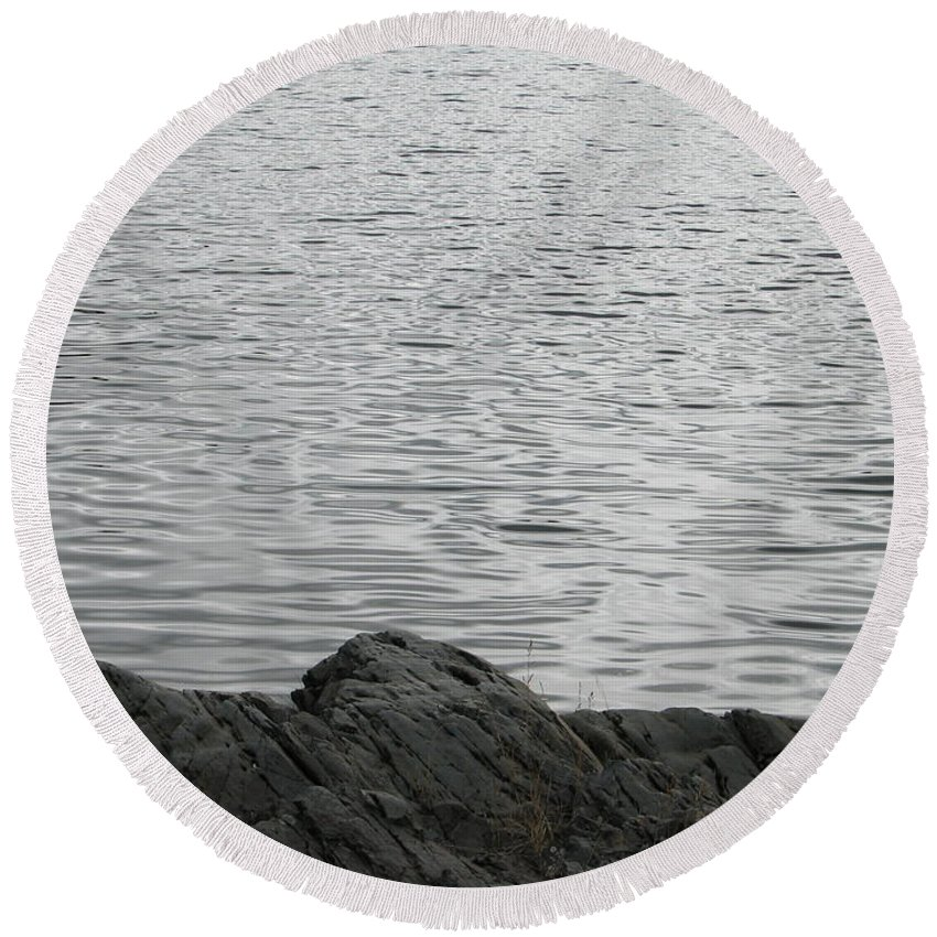 Water Round Beach Towel featuring the photograph Gentle Waters by Kelly Mezzapelle