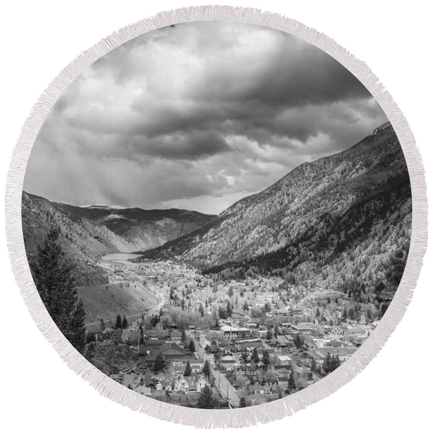 Georgetown Round Beach Towel featuring the photograph Georgetown Colorado by Ursa Davis