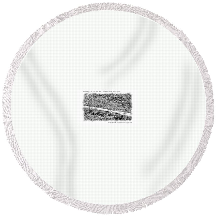 Get Well Round Beach Towel featuring the photograph Get Well Post by Susan Kinney