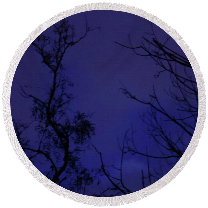 Blue Round Beach Towel featuring the photograph Ghost by Alice Soanes