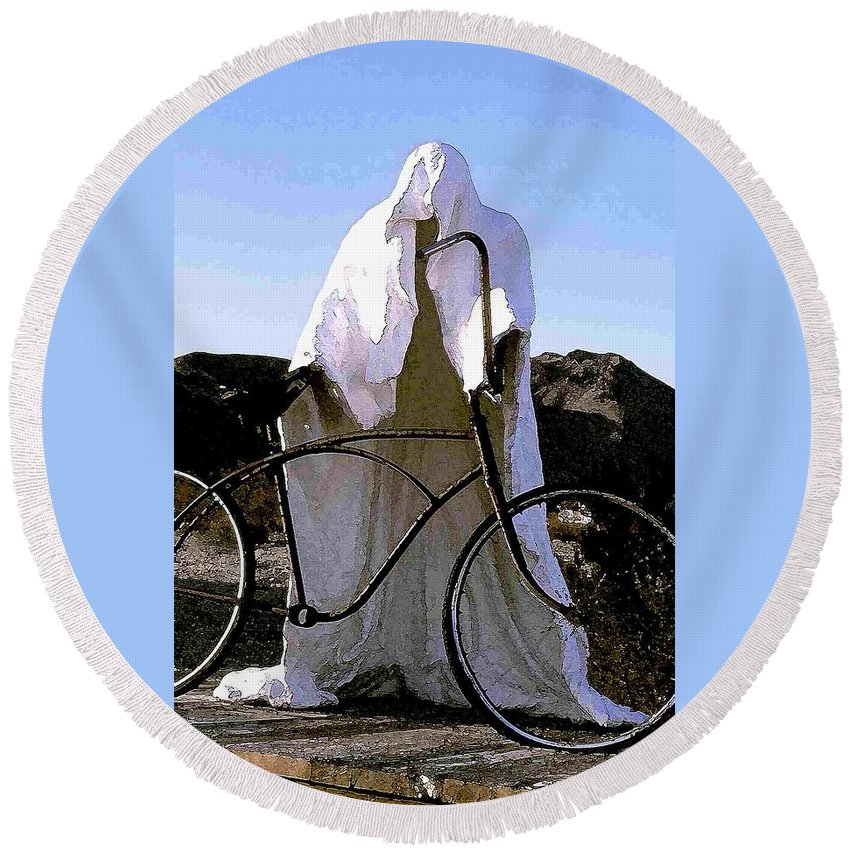 Ghost Round Beach Towel featuring the photograph Ghost Rider by Nelson Strong
