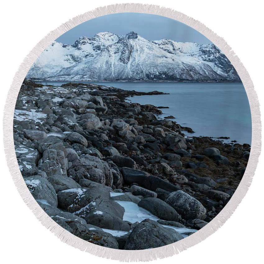Gimsoy Round Beach Towel featuring the photograph Gimsoy, Lofoten - Norway by Joana Kruse