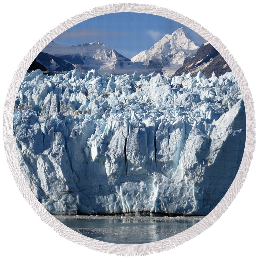 Alaska Round Beach Towel featuring the photograph Glacier Bay 11 Photograph by Kimberly Walker
