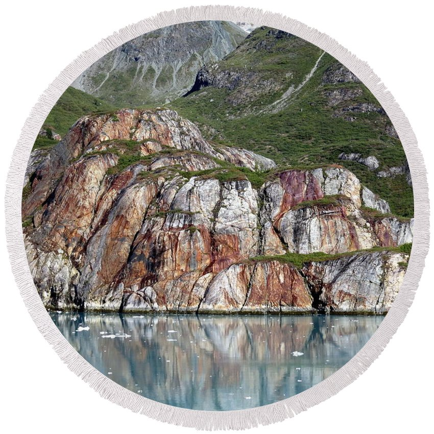 Alaska Round Beach Towel featuring the photograph Glacier Bay 4 Photograph by Kimberly Walker