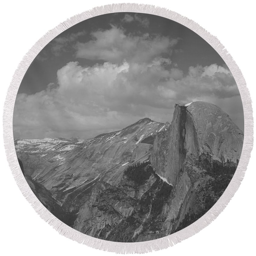Half Dome Round Beach Towel featuring the photograph Glacier Point by Travis Day