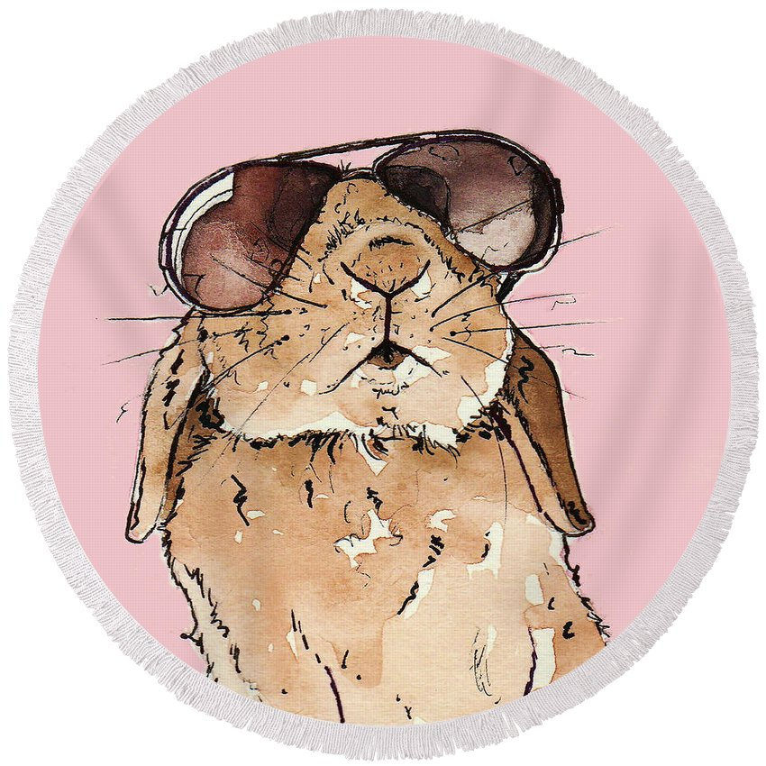 Rabbit Round Beach Towels