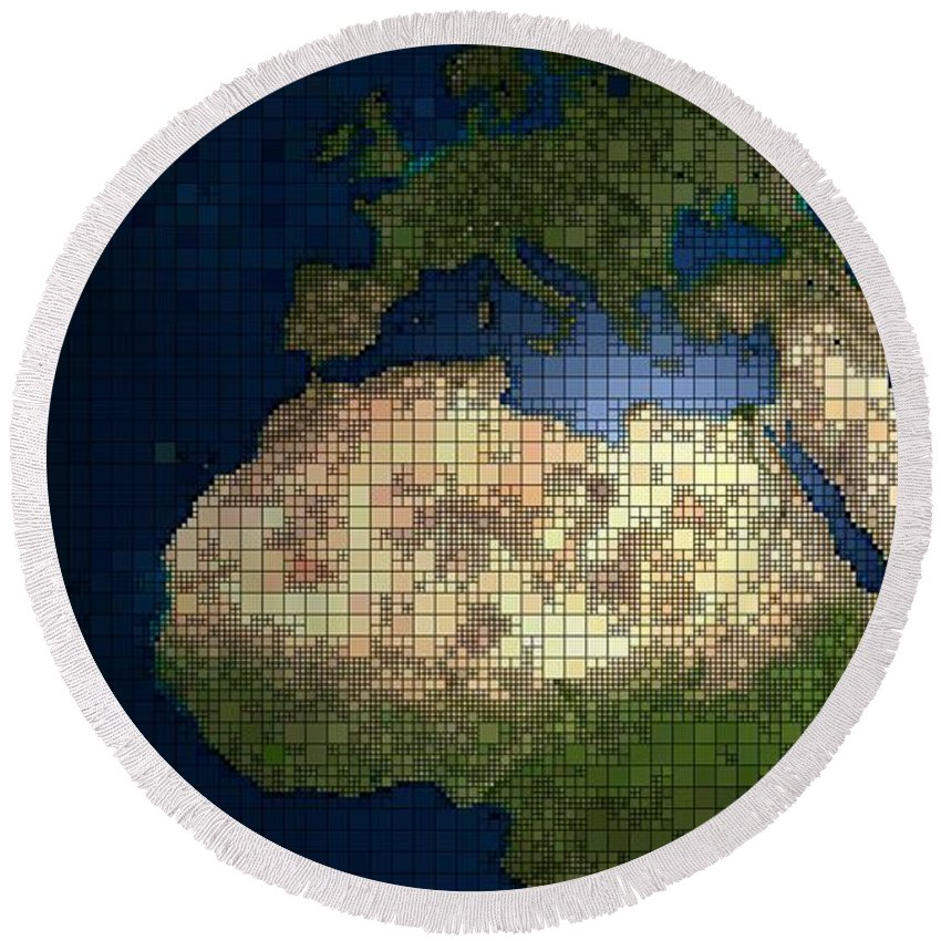 Directions Round Beach Towel featuring the photograph Globe by FL collection