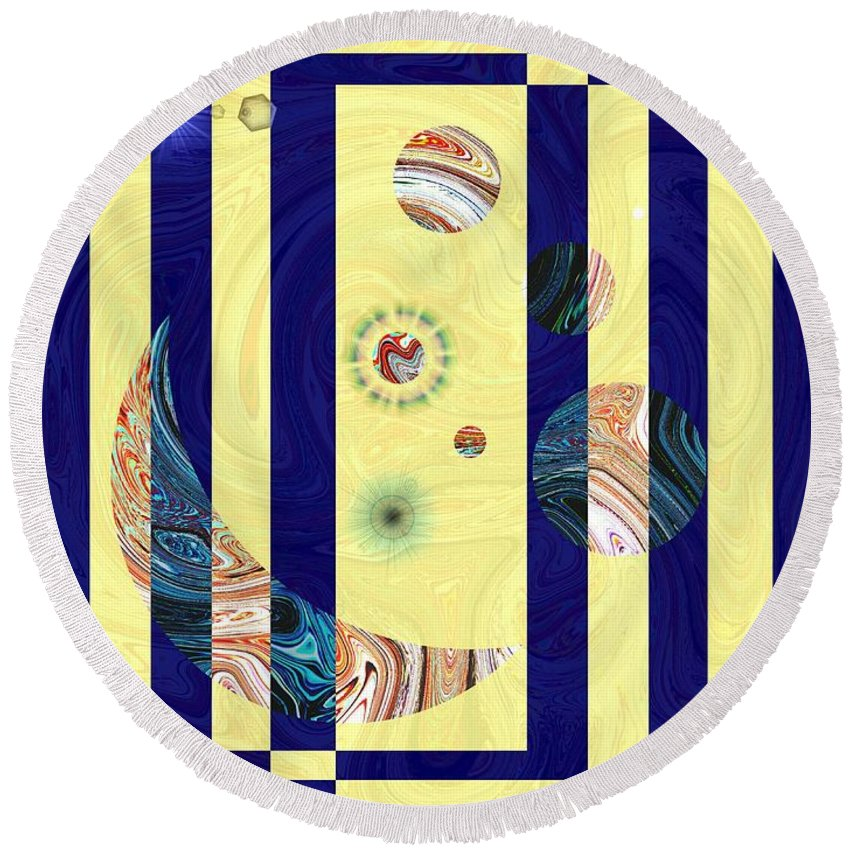 Globes Round Beach Towel featuring the digital art Globe Trotting by Tim Allen