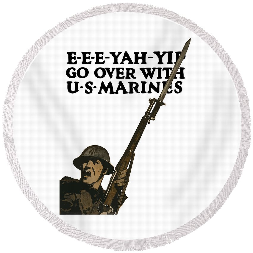 Bayonet Round Beach Towels