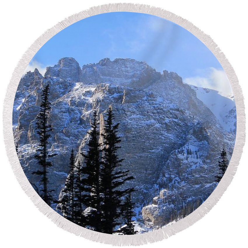 Nature Round Beach Towel featuring the photograph Go Tell It On The Mountain by Tonya Hance