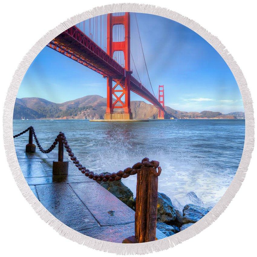 Golden Gate Bridge Round Beach Towel featuring the photograph Golden Gate Bridge 2 by Jerry Fornarotto