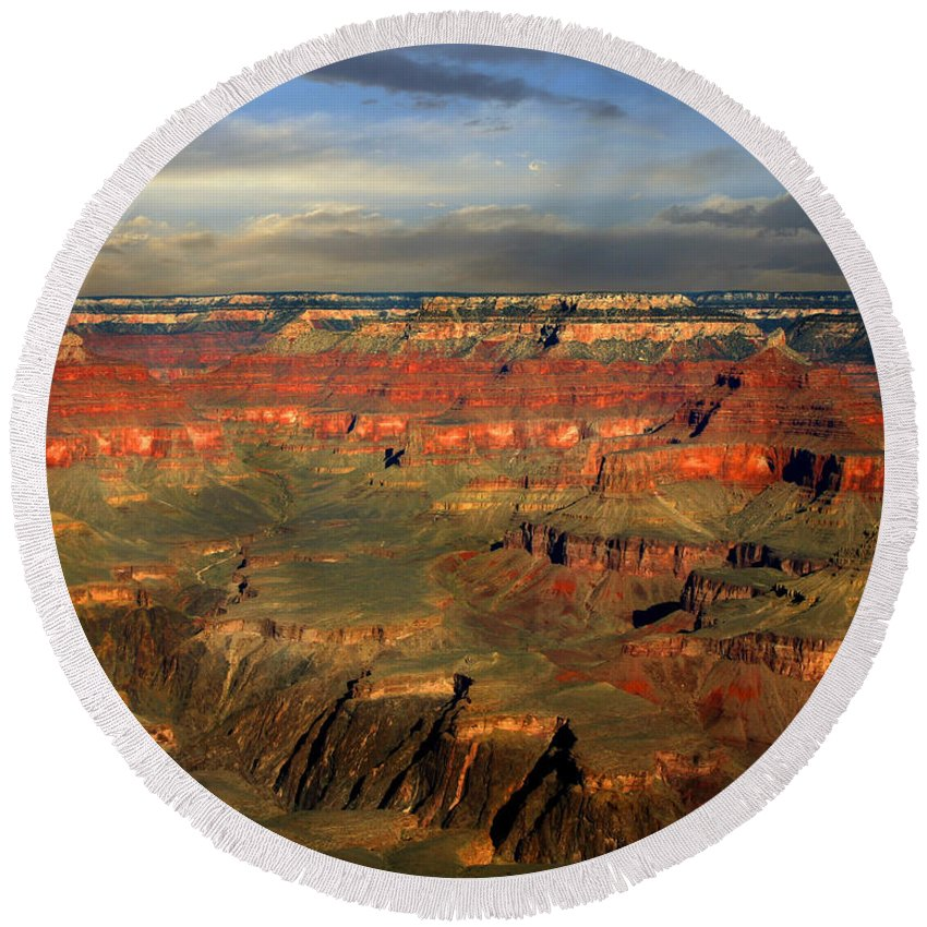 Grand Canyon Round Beach Towel featuring the photograph Grand Canyon by Anthony Jones