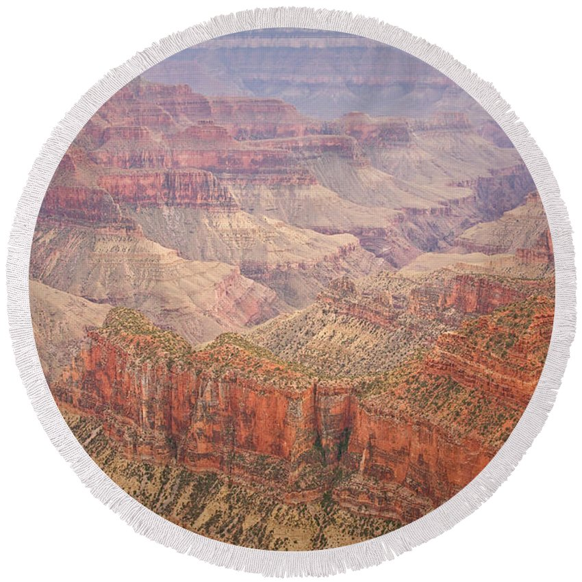 Grand Canyon Round Beach Towel featuring the photograph Grand Canyon North Rim by James BO Insogna