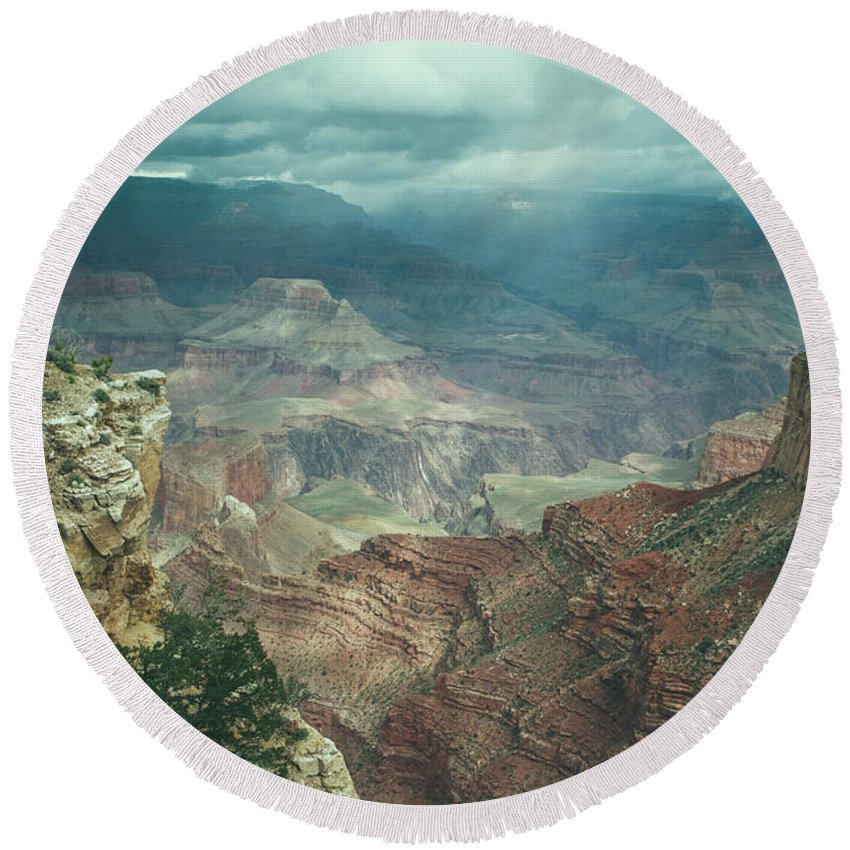 Grand Canyon Round Beach Towel featuring the photograph Grand Canyon Usa by Billy Soden