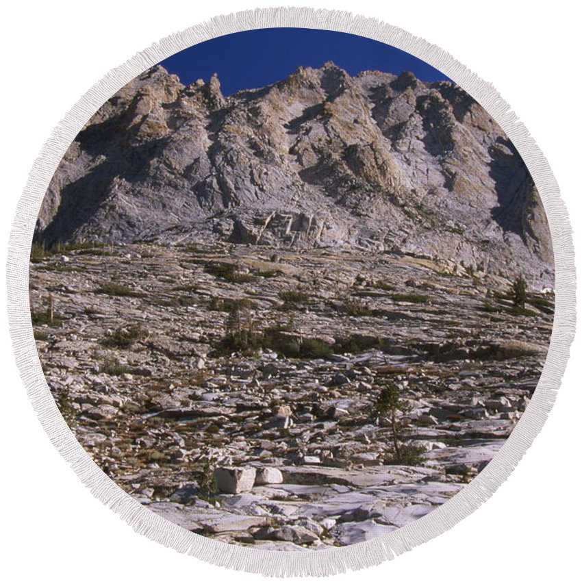 Granite Mountain Round Beach Towel featuring the photograph Granite Mountain by Soli Deo Gloria Wilderness And Wildlife Photography