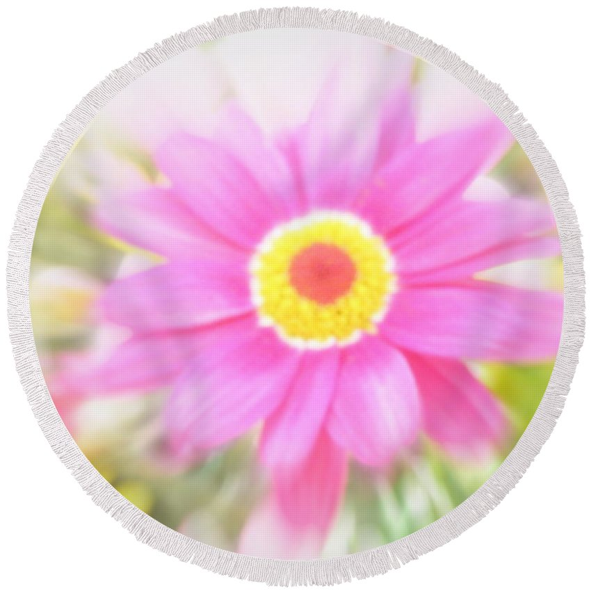 Flower Round Beach Towel featuring the photograph Grow by Lainie Wrightson