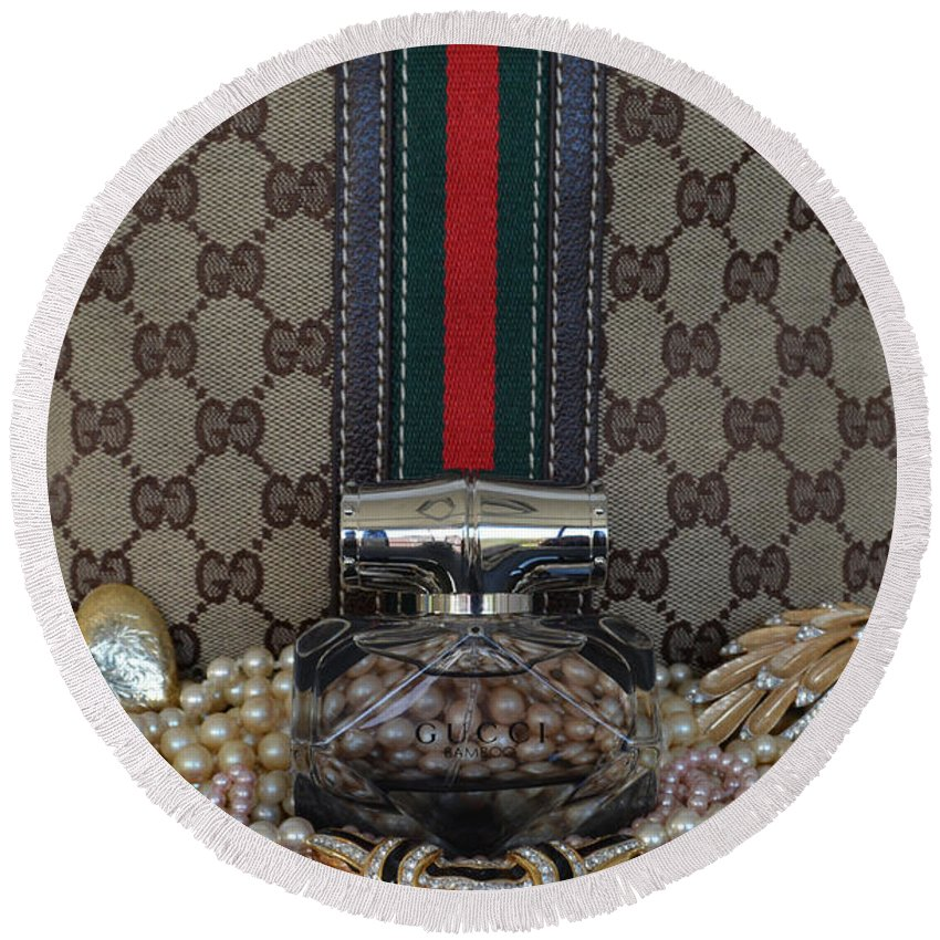 Gucci Round Beach Towel featuring the photograph Gucci Bamboo 6 by To-Tam Gerwe