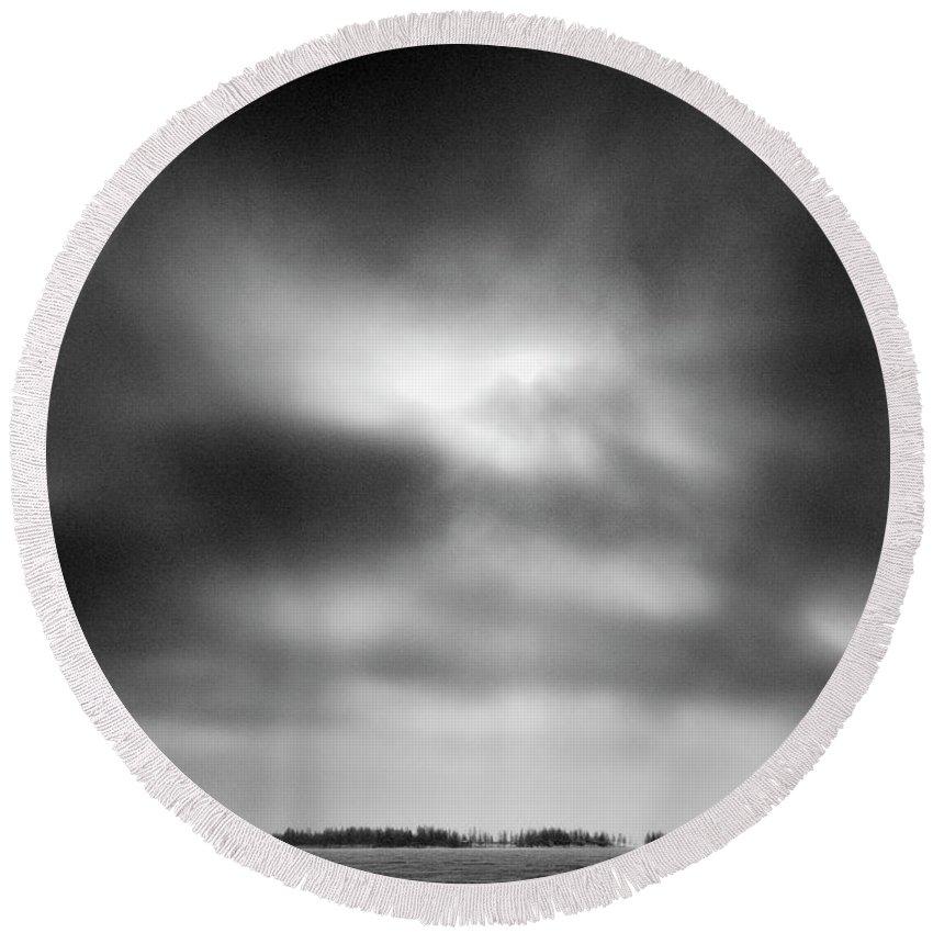 Lehtokukka Round Beach Towel featuring the photograph Gulf Of Bothnia Variations Nr 15 by Jouko Lehto