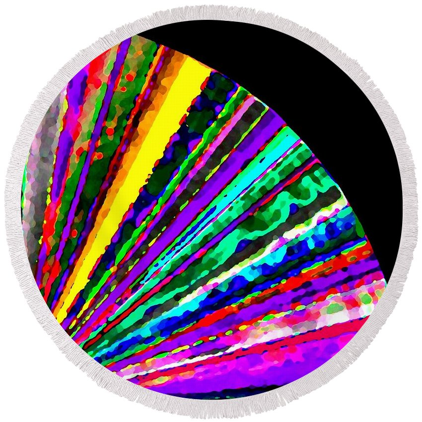 Abstract Round Beach Towel featuring the digital art Harmony 7 by Will Borden