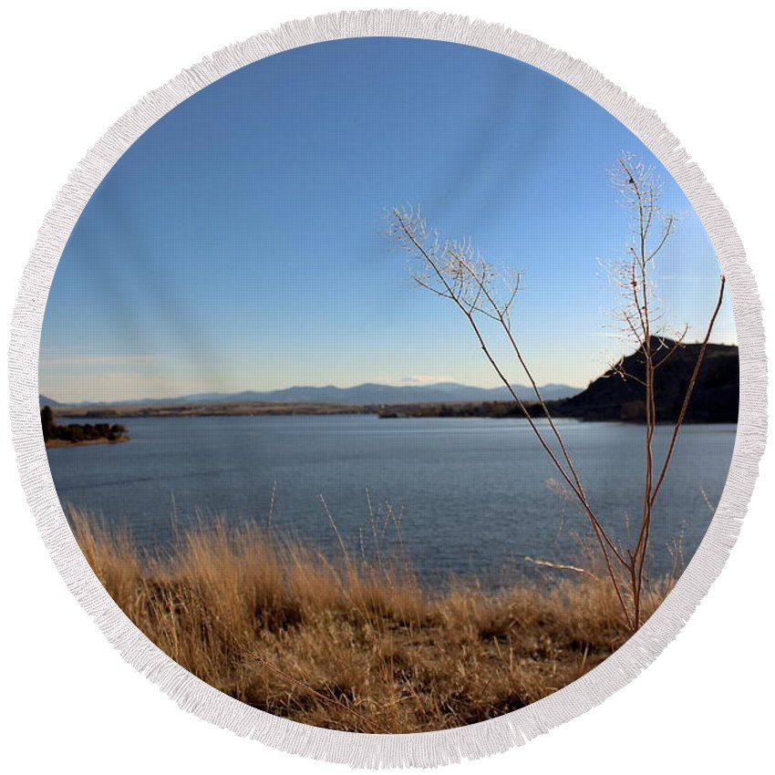 North Round Beach Towel featuring the photograph Hauser Lake by Nicholas Miller