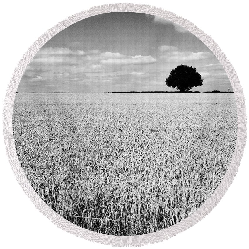 Round Beach Towel featuring the photograph Hawksmoor by John Edwards