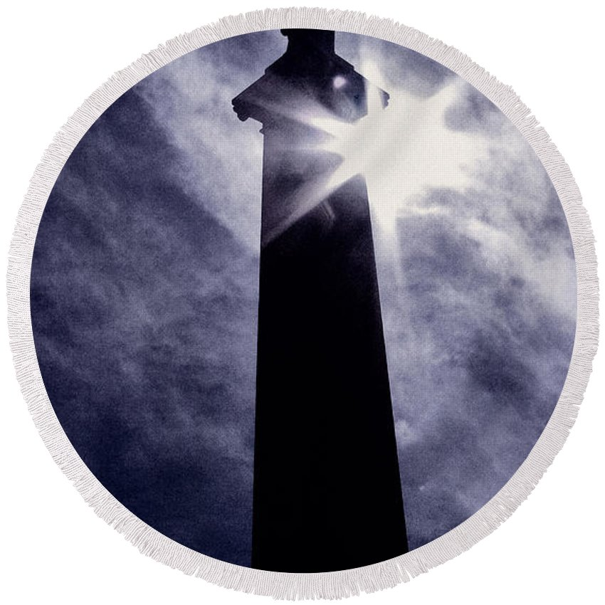 Cemetery Round Beach Towel featuring the photograph Heavenly Eclipse by Scott Wyatt