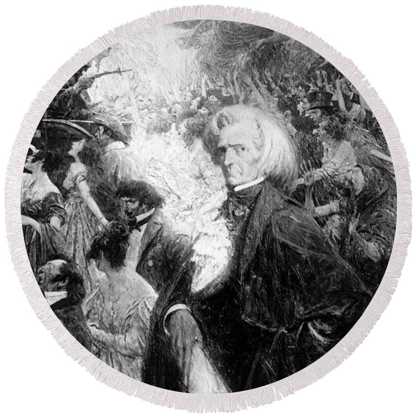 Fine Arts Round Beach Towel featuring the photograph Hector Berlioz, French Composer by Science Source