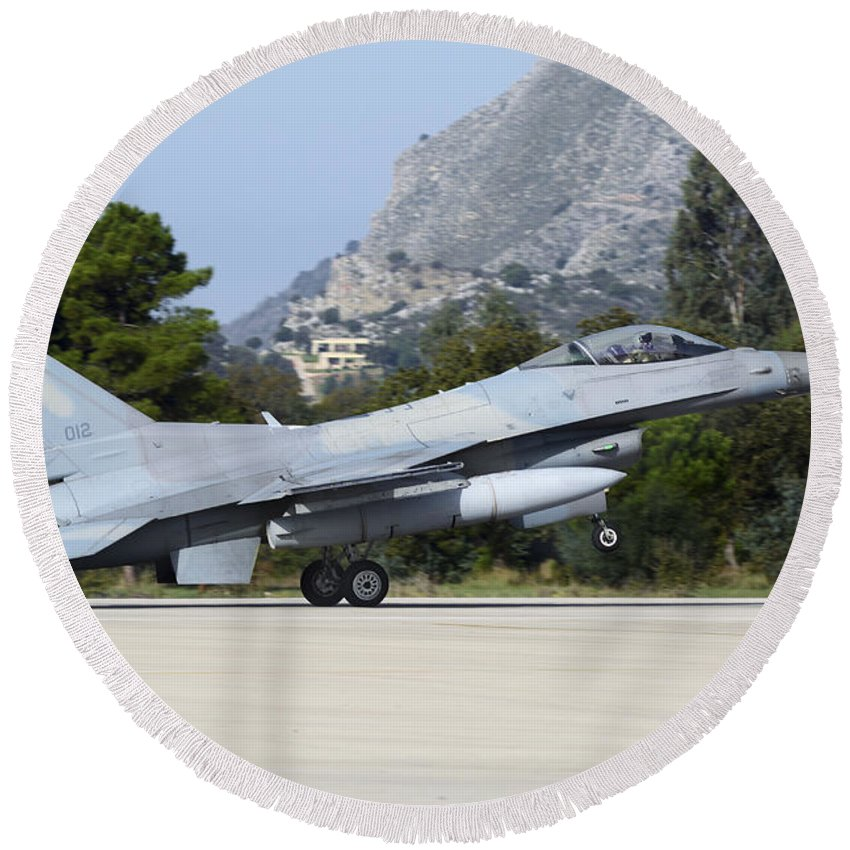 Hellenic Armed Forces Photographs Round Beach Towels