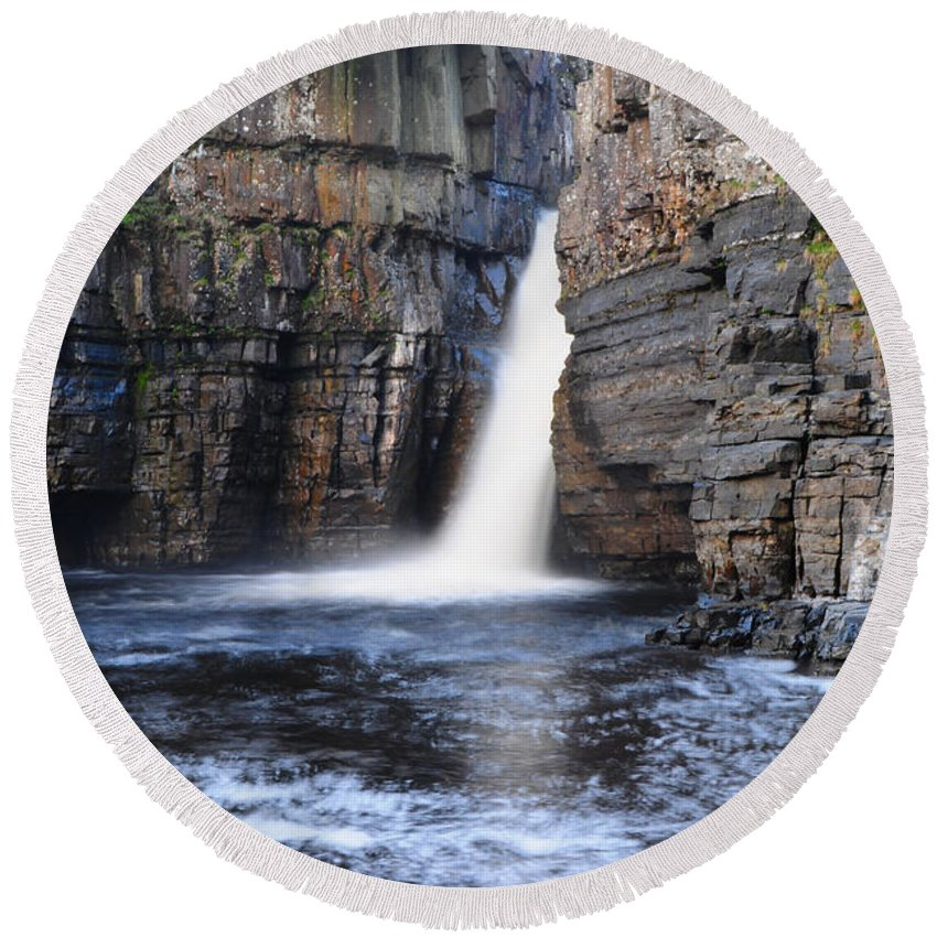 High Force Round Beach Towel featuring the photograph High Force by Smart Aviation