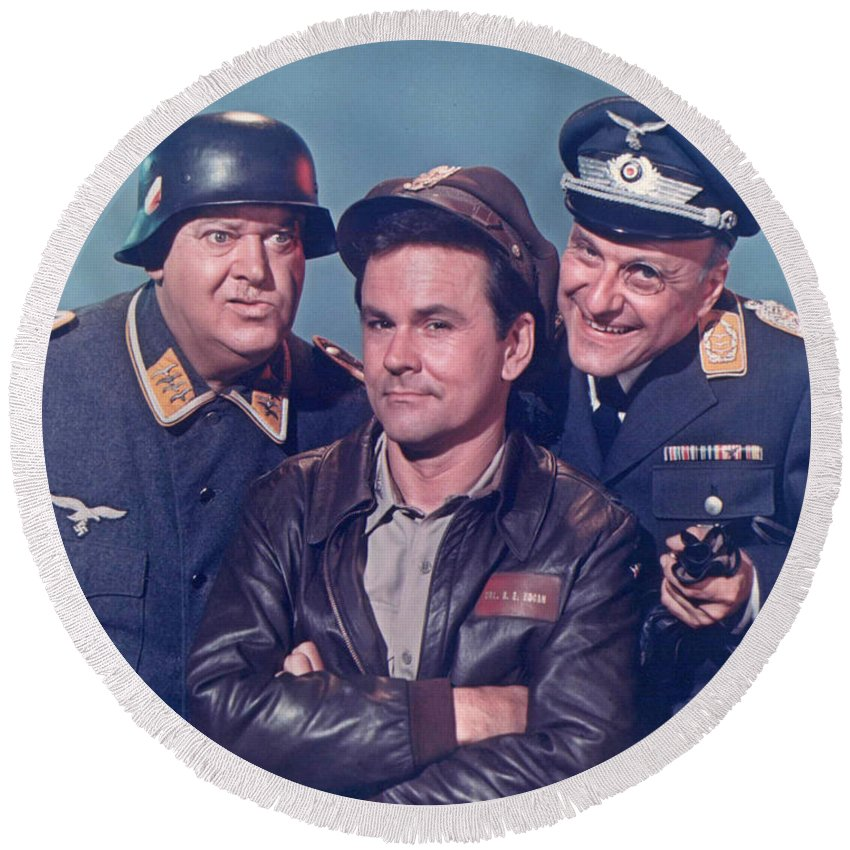 Hogan's Heroes Round Beach Towel featuring the photograph Hogan's Heroes by Pd