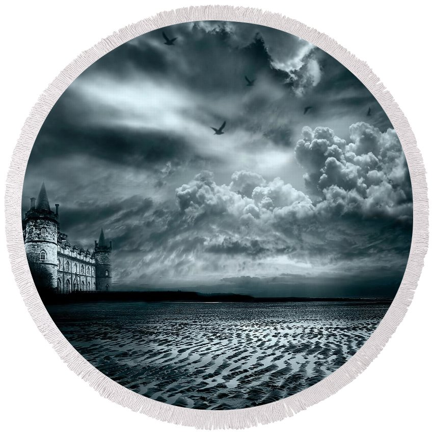 Beach Round Beach Towel featuring the photograph Home by Jacky Gerritsen
