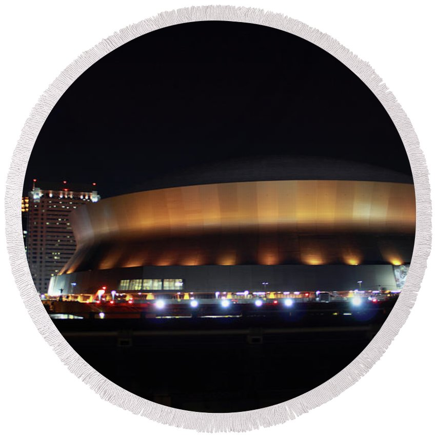 New Orleans Round Beach Towel featuring the photograph Home Sweet Dome by James Foshee
