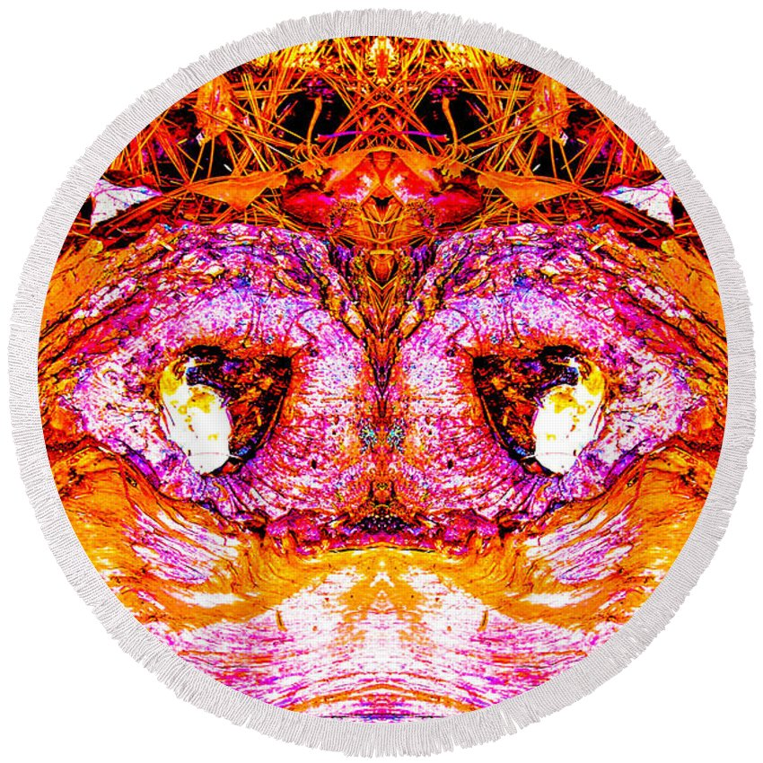 Fine Art Photography Round Beach Towel featuring the photograph Hoot On by Nicholas Costanzo