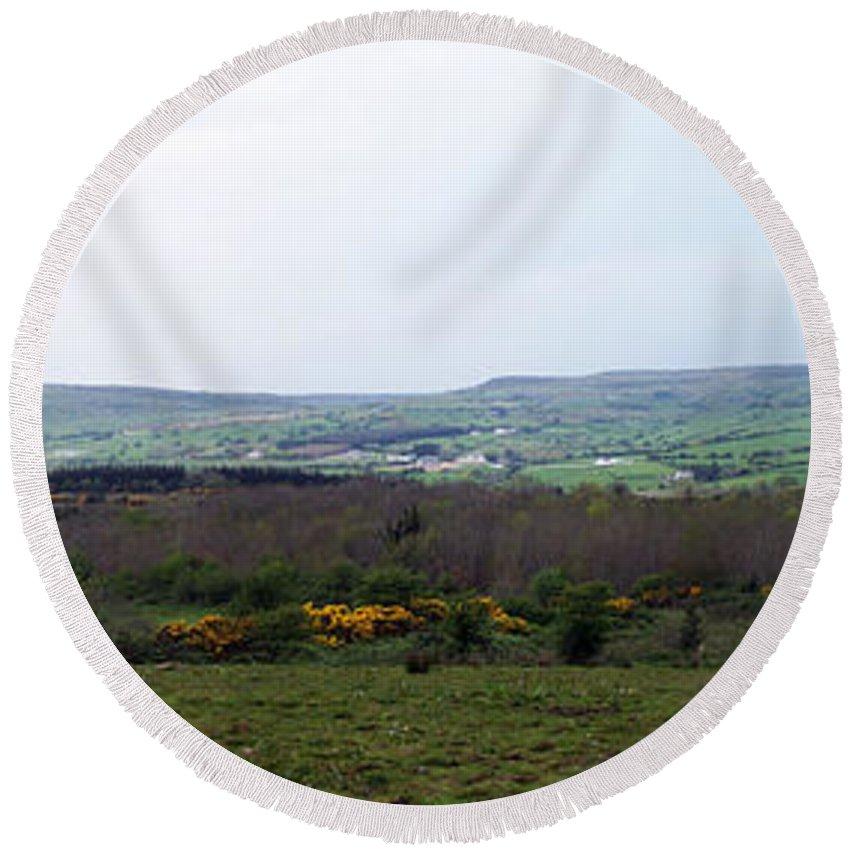 Ireland Round Beach Towel featuring the photograph Horses At Lough Arrow County Sligo Ireland by Teresa Mucha