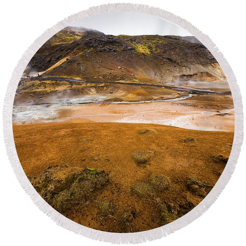 Beautiful Round Beach Towel featuring the photograph Hot Planet by Svetlana Sewell
