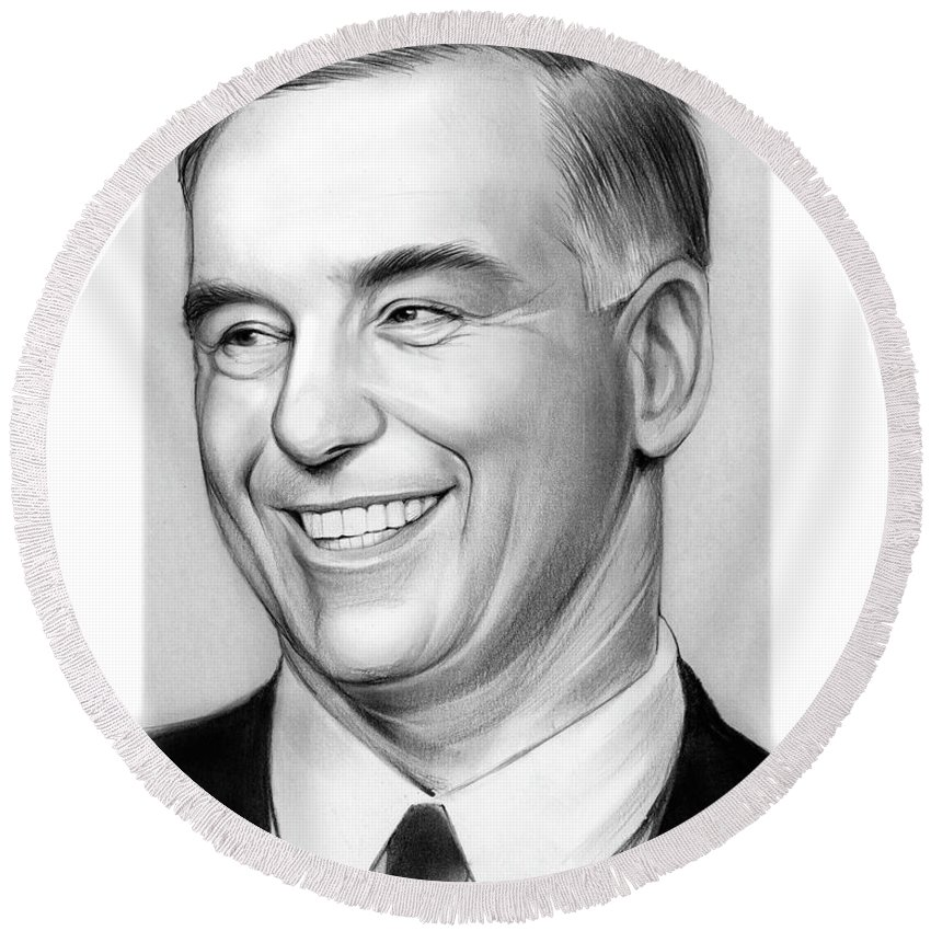 Howard Dean Round Beach Towels
