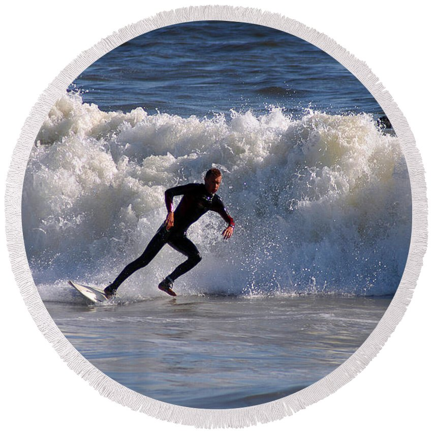 Clay Round Beach Towel featuring the photograph I Quit by Clayton Bruster