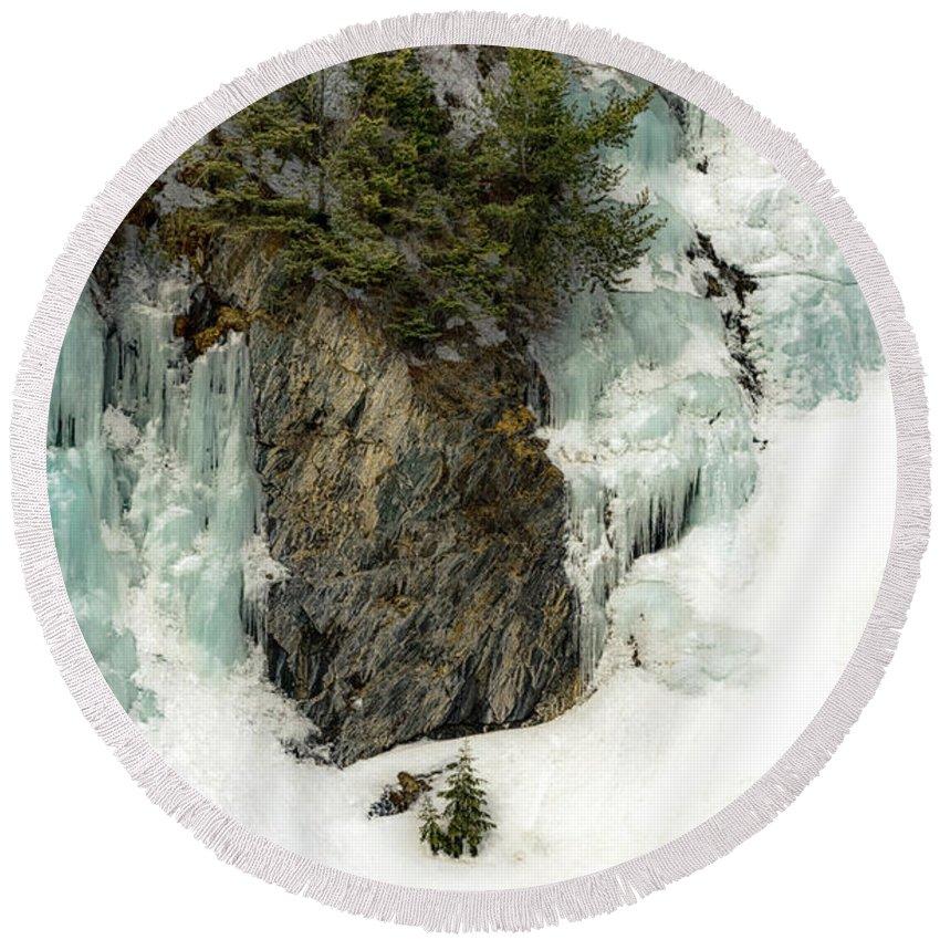 Colorado Round Beach Towel featuring the photograph Ice Is Nice by Barbara Hayton