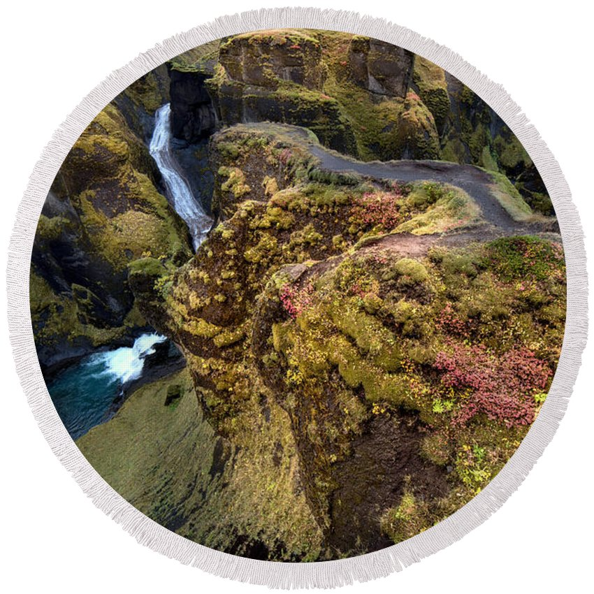 Iceland Round Beach Towel featuring the photograph Icelandic Autumn by Gal Gross
