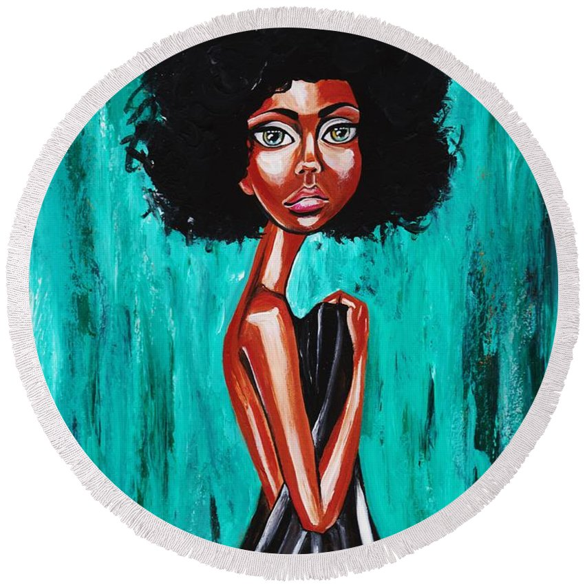Afro Round Beach Towel featuring the photograph If From Past Sins Ive Been Washed Clean-why Do I Feel So Dirty by Artist RiA
