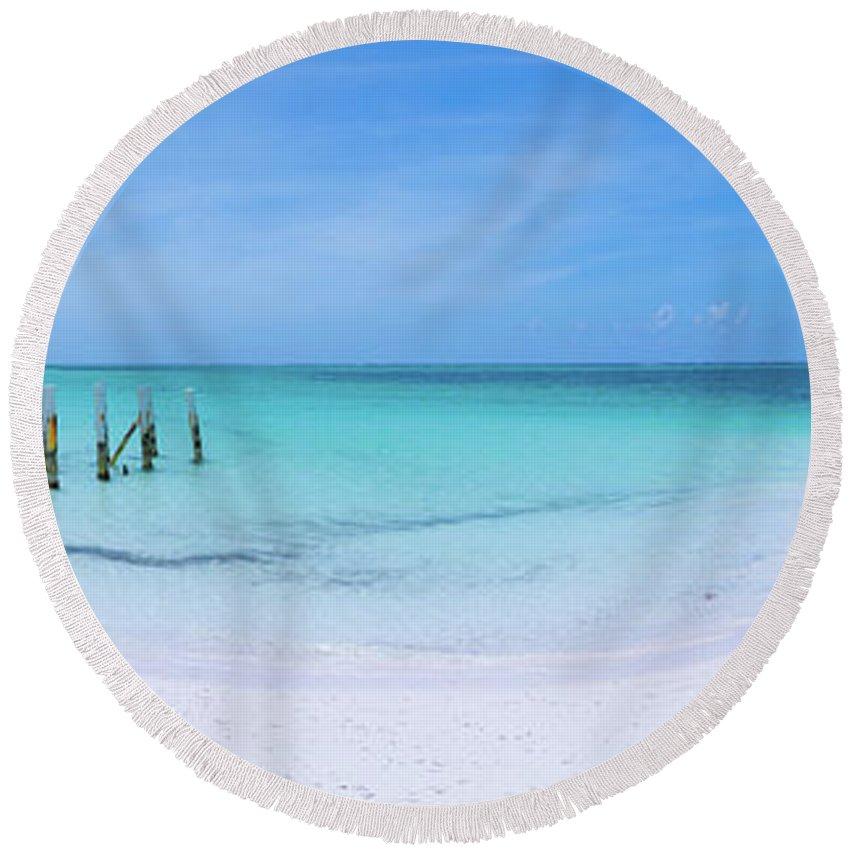 Imagine Photographs Round Beach Towels