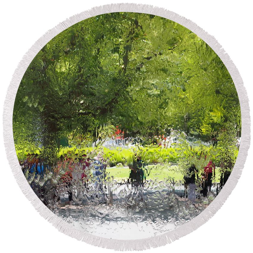 Impressionist Round Beach Towel featuring the photograph Impressionist Series #2 by Ronald Rockman