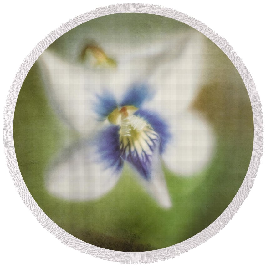 Flower Round Beach Towel featuring the photograph Impressions Of Spring by Scott Norris